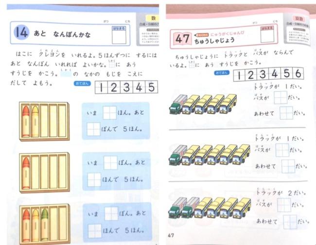 Z会幼児年長4月号数ワークのレベル