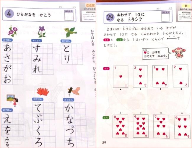Z会幼児の文字と数ワーク