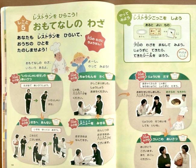 Z会幼児年長社会体験学習