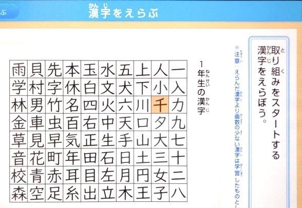 チャレンジタッチ1年生漢字先取りアプリの口コミ