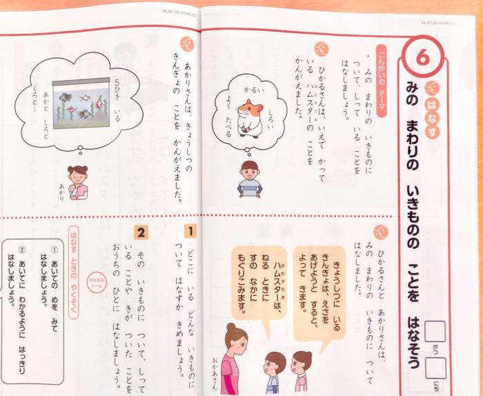 Z会小学生1年生国語
