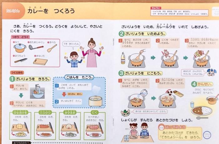 Z会小学生1年生経験料理