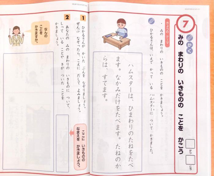 Z会小学生1年生国語作文
