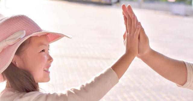 子供とのコミュニケーション感謝と共感